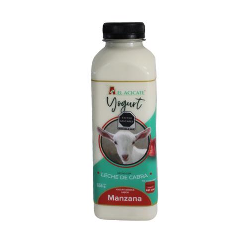 Yogurt de cabra manzana